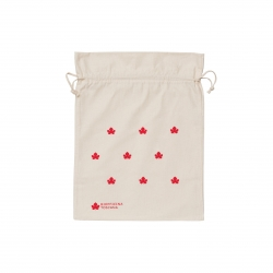Organic cotton pouch - big red