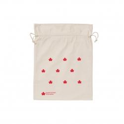 Sacchettino di cotone ecologico grande - stampa rossa