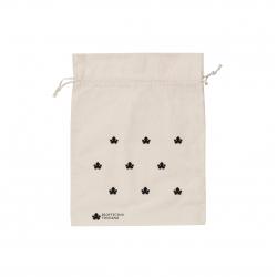 Sacchettino di cotone ecologico grande - stampa nera