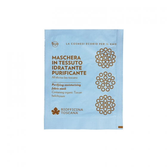 Purifying-moisturising fabric mask