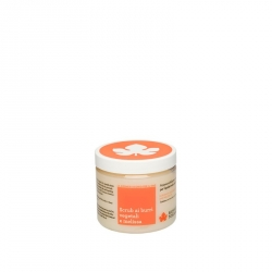 Scrub with vegetable butter and melissa oil